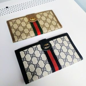 Oversized blue Gucci wallet